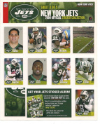 NY JETS 2004 OFFICIAL STICKER COLLECTION NY POST 3 of 5 MAWAE, MOSS, ELLIS