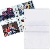 Pioneer STR 3-Ring Memo Album 40 Pocket Refills, 2 Per Page