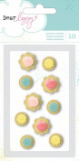 American Crafts Dear Lizzy Polka Dot Party Resin Flower Embellishments