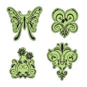 Inkadinkado Stamping Gear Cling Stamps, Butterfly Garden
