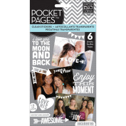 Me & My Big Ideas Pocket Pages Clear Stickers 6 Sheets/Pkg-Friends - White Lettering