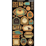 Graphic 45 Steampunk Spells Chipboard 2 for Arts and Crafts