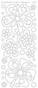 Big Flowers Gold Peel Off Stickers// Elizabeth Craft Designs