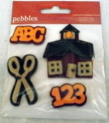 Pebbles Layered Embellishments ~ ABC School