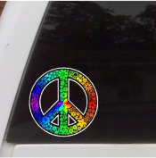 Rainbow Peace Symbol Decal Sticker Car, Truck, Laptop Decal Sticker