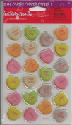 Candy Hearts Epoxy Scrapbook Stickers