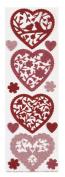 Martha Stewart Crafts Valentine Glittered Die-Cut Hearts Stickers