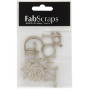 Fabscraps Die-Cut Chipboard Word, Flower Girl, 9.1cm by 6.1cm