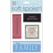 Me & My Big Ideas Soft Spoken 3 Dimensional Embellishments-Family