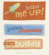 K and Company - Rocket Words Stitched Tags