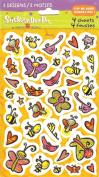 Cartoon Butterfly Bird Bee Bugs Scrapbook Stickers