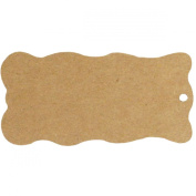 Wrapables 20 Gift Tags/Kraft Hang Tags with Free Cut Strings for Gifts, Crafts & Price Tags - Wavy Tag