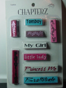 Chapterz Girl Theme Scrapbooking Embellishments - Attach to Top, Bottom, Left or Right Edges of a Page
