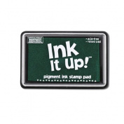 Ink It Up!TM Kelly Green Pigment Ink Pad - Pigment Stamp Pad - Ink It Up!TM Pigment Ink Stamp Pads