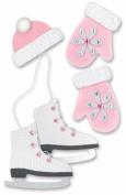 Christmas Paper Bliss Adhesive Embellishments - Skater Girl