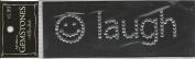 Smile Laugh Clear Gemstone Scrapbook Stickers