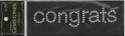 Congrats Word Clear Gemstone Scrapbook Stickers