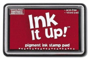 Ink It Up!TM TRUE RED Pigment Ink Pad - TRUE RED Pigment Stamp Pad - Ink It Up!TM Pigment Ink Stamp Pads