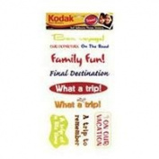 Kodak Photo Memories Travel Phrase Stickers, Self Adhesive Words & Symbols for Travel Photos.