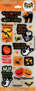 Halloween Hugs and Candy Kisses Scrapbook Stickers