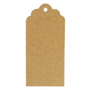 Wrapables 20 Gift Tags/Kraft Hang Tags with Free Cut Strings for Gifts, Crafts & Price Tags