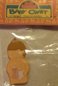 Baby Craft, Pre-painted, Wood Minis, Decorative Miniatures. Baby with Bottle