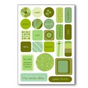Colour Theory Collection - Gel Candy - Green Shapes