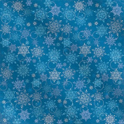 Hot Off The Press - Snowflakes on Blue Foil