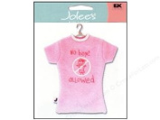 EK Success Mini T-Shirt Embellishment NO BOYS ALLOWED FOR SCRAPBOOKING, CARD MAKING & CRAFT PROJECTS