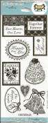 Happily Ever After Gold Foil Scrapbook Stickers