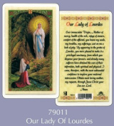 Rosarybeads4u Prayer Verse Card Laminated Our Lady Of Lourdes
