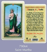 Rosarybeads4u Prayer Verse Card Laminated St Saint Martha