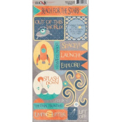 Reach for the Stars Collection - Cardstock Stickers - Elements by Moxxie