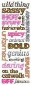 Momenta Puffy Title Sticker, Animal