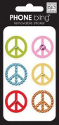 me & my BIG ideas Phone Bling Removable Cell Phone Embellishment, Simple Peace Signs