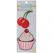 Babyville Boutique Appliques, Cupcake and Cherry, 2 Count