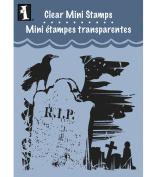 Inkadinkado Clear Mini Stamps, Tombstone