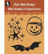 Inkadinkado Clear Mini Stamps, Halloween