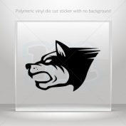 Sticker Decal Wolf Heaf car window bike ATV jet-ski Garage door 0502 W962W
