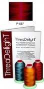 1 cone of ThreaDeligh Polyester Embroidery Thread - Garnet Medium P537 - 1100 yards - 40wt