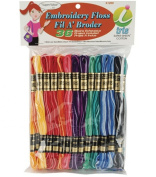 Iris 36-Pack Embroidery Floss Pack, 8m, Variegated Colours