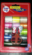 21 Piece Sewing Kit Thread Scissors Safety Pins Buttons Threader New in Pack