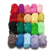 New 4 Ply Knitting Fashion Acrylic Yarn Wool Variety Pack 20 x 25g Balls - Assorted Mixed Colours by Kurtzy TM