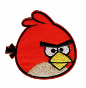Angry Birds Red Bird Iron on Sewing on Embroidered Patch Art Craft Embroidery Applique motif
