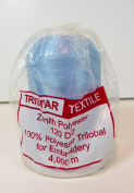 Embroidery Thread, Blue, Polyester Trilobal, 4000 Yards,Tristar Textile