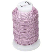 Simply Silk Beading Thick Thread Cord Size FFF Lilac 0.016 Inch 0.42mm Spool 92 Yards Compatible with Kumihimo Super Lon