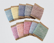Baker's Twine Lot -- 250 Total Yards in 10 Colours -- 25 Yards Each Colour