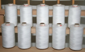New ThreadsRus 10 Large WHITE Spools of 3-PLY Polyester Sewing Quilting Serger threads