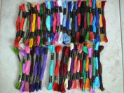 50 Anchor Skeins Assorted Embroidery Cross Stitch Threads Floss 6 Strands Cotton