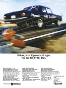 "1965 Plymouth Belvedere Ad Digitised & Re-mastered Car Poster Print ""You Can Tell by the Blur"""